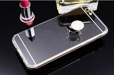Luxury Ultra-thin TPU Black Mirror Metal Case Cover for iPhone 6 Plus {bd852