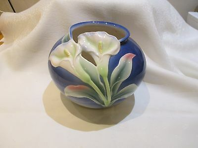 Beautiful  Franz Porcelain Calla Lilly Large Round Vase - Reduced