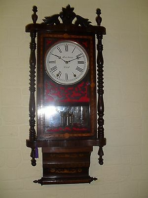 Very Attractive  Inlaid  American Wall Clock.