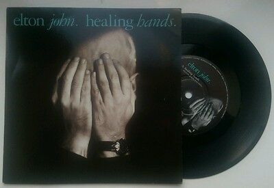 "Elton John ‎– Healing Hands / Dancing In The End Zone - 7"" Vinyl Record Single"