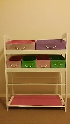 Kids 6 Drawer Toy Organiser Storage Rack