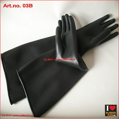 Rubber gloves 60 cm - industrial - heavy duty