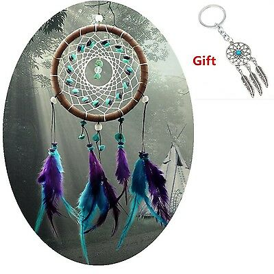 Handmade Dream Catcher Wall Hanging Circular Net With feathers Ornament India