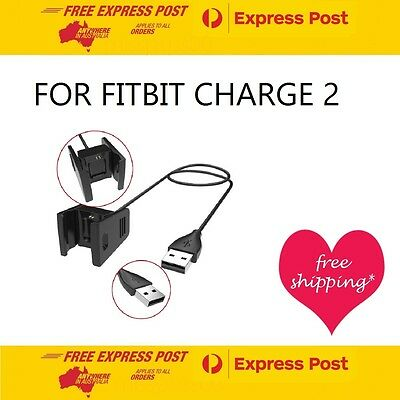 FITBIT CHARGE 2 Replacement Charging Cable Wristband USB Charger SA & AU SELLER
