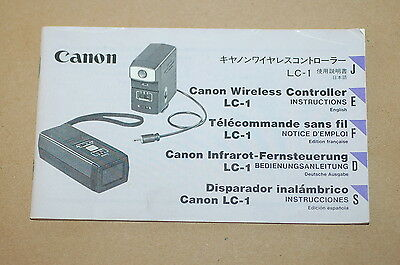 Canon Wireless Controller LC-1 - Original Instructions