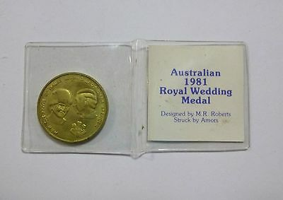 Australian 1981 Royal Wedding Prince Charles & Lady Diana Medal