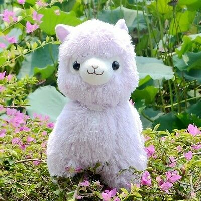 Fresh Alpacasso Purple Alpaca Plush Amuse Arpakasso Fluffy Toy Gift 35cm