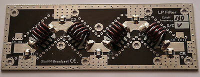 0-1000W 88-108MHz 9 pole Low pass filter LPF for FM Broadcast transmitter