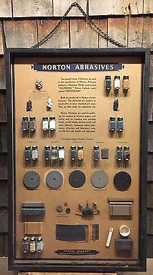 RARE Early Original Hardware Country Store NORTON ABRASIVE Material Display Sign