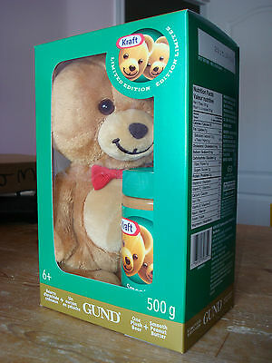 Gund Kraft Peanut Butter Bear Limited Edition Stuffed Toy Red  2014 Sold Out!!