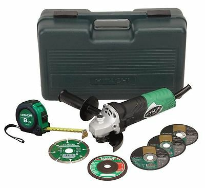 Hitachi Angle Grinder 730w 100mm With Bonus Pack G10SR3-BP New Free Shipping