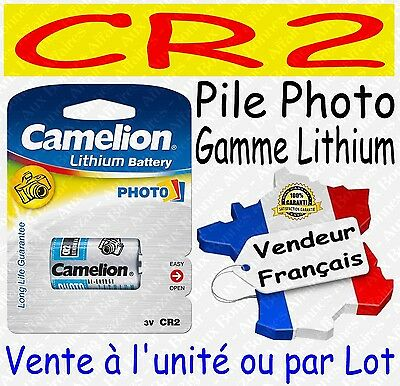 Piles Photo Lithium 3V : CR2 DLCR2 EL1CR2 CR17335 ( vente à l'unité ou par lot )