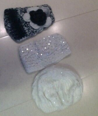 GIrls/ladies Winter hat/head band-lot of 3