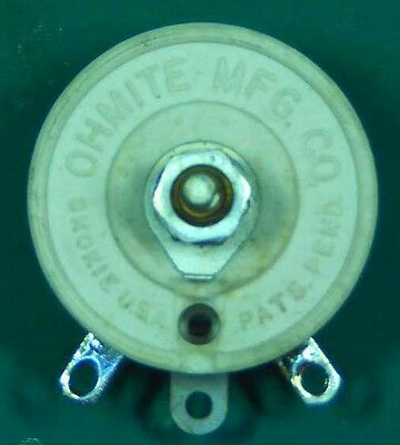 NEW Ohmite 0324 Model J 500 Ohm 50W Rheostat - NOS