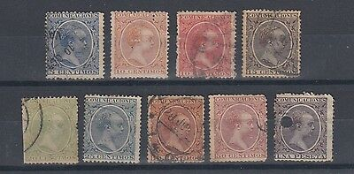 Spain 1889 King Alfonso XIII Stamps Used  Hinged No Gum (#909)