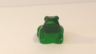 Green Glass Frog Figurine