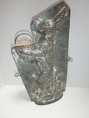 XRARE antike SCHAU- Schokoladenform RIESENHASE 33 CM antique chocolate mold 6629
