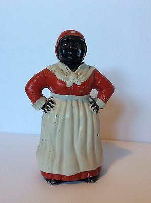 "Collector's Vintage Cast Iron ""Mammy"" or ""Aunt Jemima"" Bank Doorstop Americana"