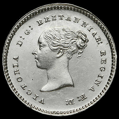 1848 Queen Victoria Young Head Silver Maundy Twopence