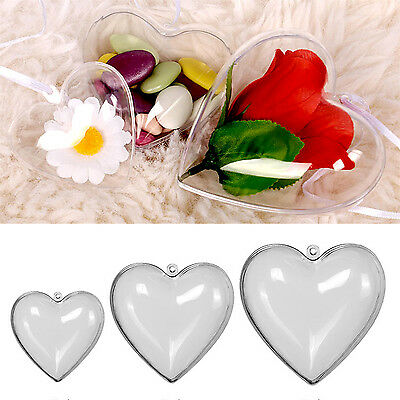 Neu 65/80/100mm DIY Clear Plastic Bath Bomb Mould Acrylic Mold Love Heart Shape