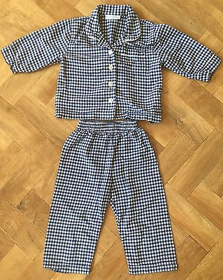 Boys checked PJ / Pyjamas  the little white company size 18-24