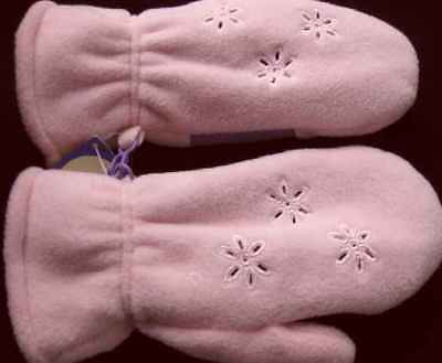 ~ New Nwt Gymboree Girl Mittens Size Small 3Y Pink Snowflake Design  Gift ~