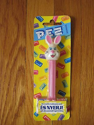 Vintage Hungarian bunny PEZ DISPENSER pink rabbit Hungary easter new sealed NIP