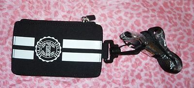 Victoria's Secret PINK Lanyard KeyChain ID Badge Card Holder Wallet - Black