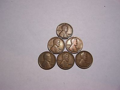 6-Lincoln Wheats 1912 1921 1924-S 1926-D 1928 1937-D