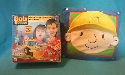2001 bob the builder scoops construction site game, and pillow, Milton Bradley