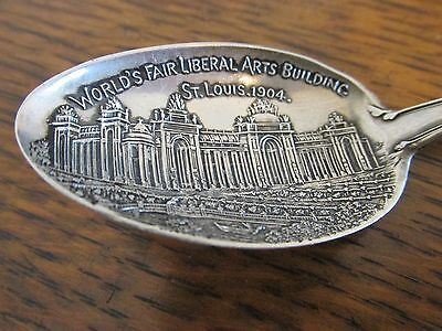 "1904 St Louis World's Fair ""palace Of Liberal Arts"" Sterling Silver Spoon"