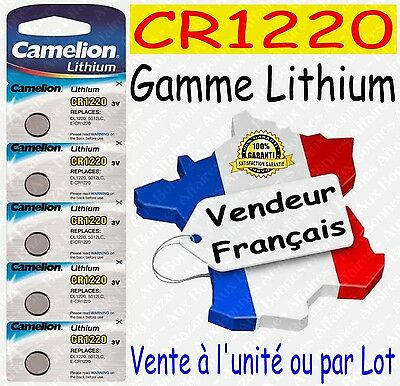 Piles/Battery Lithium 3V CR1220 CR2032 CR2025 CR2016 CR2430 CR2450 ( au choix )