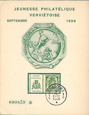 Belgium MC advertising coupon stamp Verviers 1938 hq59