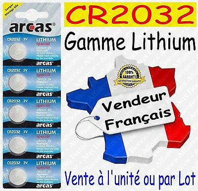 Piles/Battery Lithium 3V CR2032 CR2025 CR2016 CR1632 CR2430 CR2450 ( au choix )