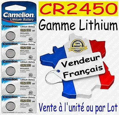 Piles/Battery Lithium 3V CR2450 CR2032 CR2025 CR2016 CR1620 CR2430 ( au choix )