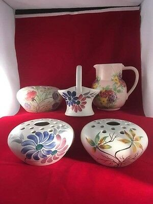 Vintage E Radford Various Items Hand Painted