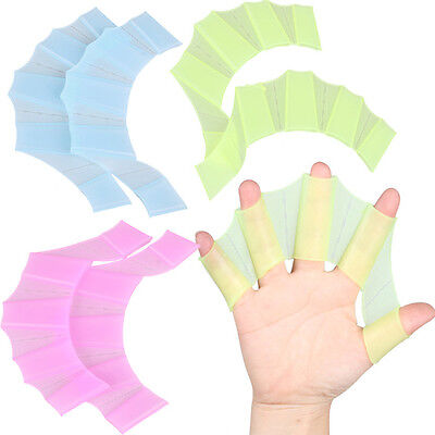 High Quality Silicone Hand Swimming Fins Flippers gloves - Free US Shipping