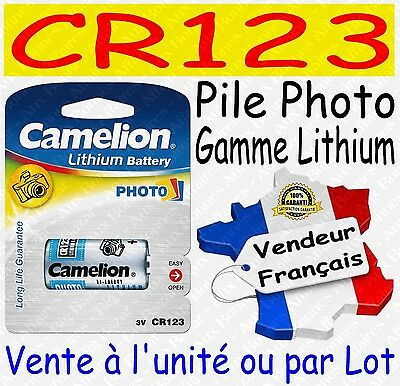 Piles/Battery Photo Lithium 3V : CR123A CR2 CR-P2 2CR5 ( à l'unité ou par lot )