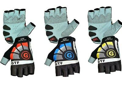 GTF New Cycling Gloves Bike Half Finger Gel Padded Fingerless Outdoor Bike Mitts