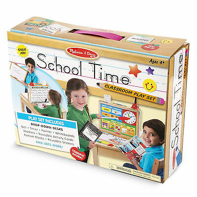 Melissa And Doug School Time Classroom Play Set NEW Toys Kids Fun