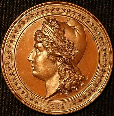 1892 Columbia Exposition Medal, Beautifully Done in Bronze 50mm