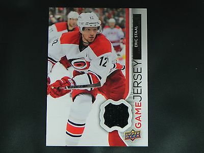 6cf56546d 2014-15 14 15 Upper Deck Series 1 Game Jersey Eric Staal Carolina Hurricanes