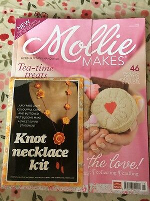 Vintage Mollie Makes Magazine (with Unused Knot Necklace Kit) Issue #4