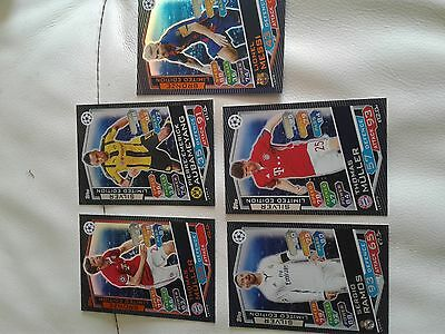 match attax champions league 16/17 5 limited edition cards