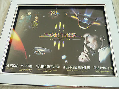 Star trek vhs sleeves Next generation Framed Mounted covers Double sided job lot