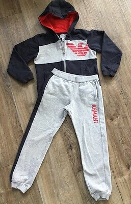 Armani Junior boys Tracksuit, Age 7 A Designer/branded/sports Age 5-6 Years