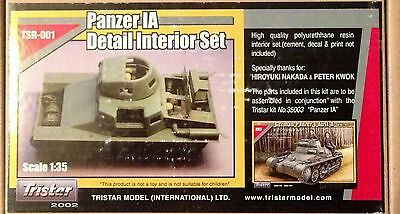 1/35 Resin Kit By Tristar Panzer I A Interior . New. Oop.