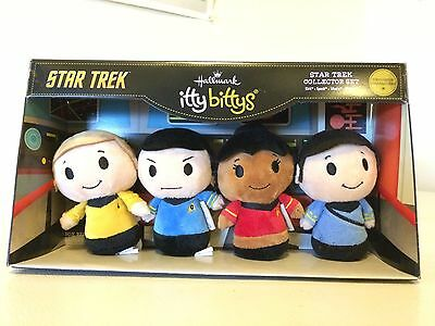 Star Trek Hallmark Itty Bittys Plush Set TOS New 50th Anniversary