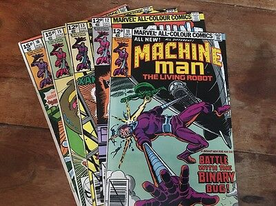 Marvel - Machine Man #11, 12, 13, 15, 16 (1979) Lot of 5 UK Editions