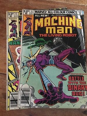Marvel - Machine Man #11 #13 Lot Of Two (1979)